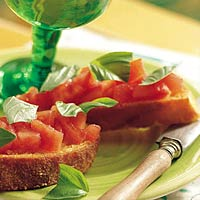 Recept Bruchetta met tomaat voorgerecht snack Italian Residence vakantiehuizen Italië