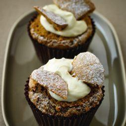 Caffe latte cupcakes met glazuur