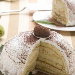 Kastanje Taart met witte chocolade en gedroogde kastanjes van Italian Residence vakantiehuizen Italie