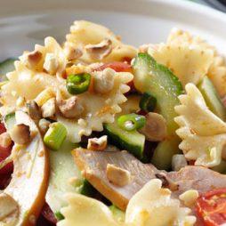 Recept voor Italiaanse pasta salade met gerookte kip van de vele smaken van Italian Residence