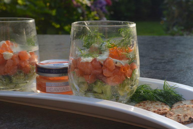 Recept Pittige Zalm avocad Amuse van de smaak van Italian Residence Italië specialist