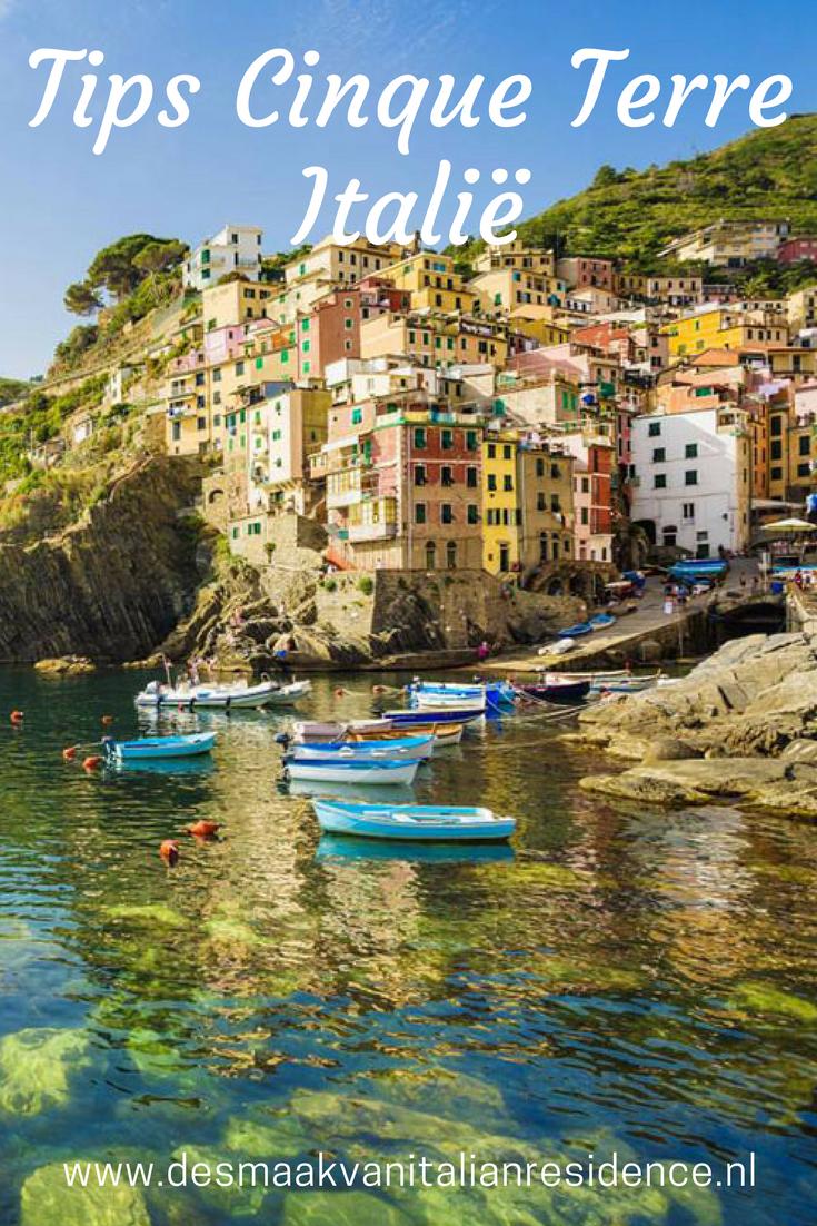 Staat Cinque Terre op jouw bucketlist voor Italie. Lees onze tips voor leuke stadjes, restaurants, strandjes, hotels, agriturismo's en vakantie villa's