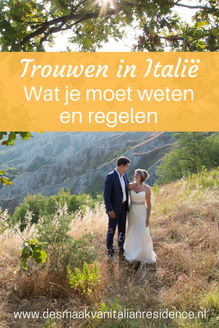 Maak je droom waar en vier je bruiloft in Italie. Lees alles over wat je moet weten en regelen over trouwen in Italie van specialist Italian Residence.