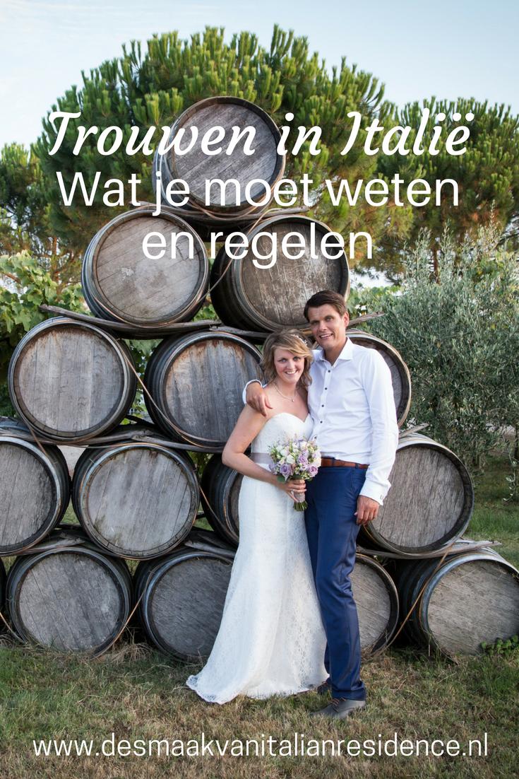 Om te trouwen in Italie moet je vooraf best nog wat dingen regelen. Italie specialist Italian Residence vertelt je alles voor een perfect bruiloft in Toscane of aan de Amalfikust.