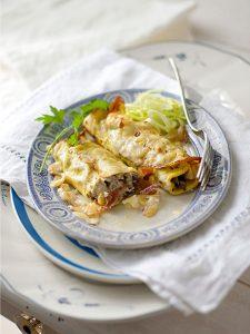 voorgerecht feestelijk Italiaans menu caneloni met truffel van de Smaak van Italian Residence