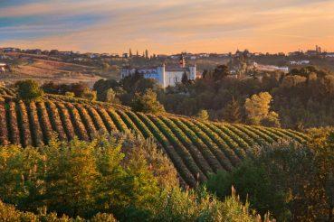 Heuvels piemonte italie