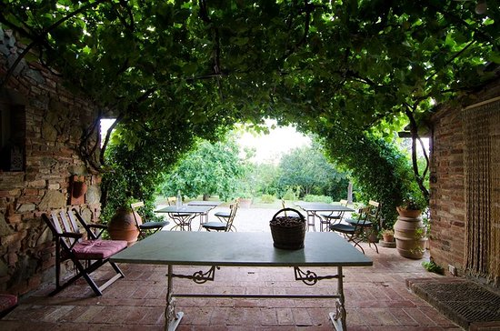 Restaurant villa-la-lodola fietsroute Val D'Orcia