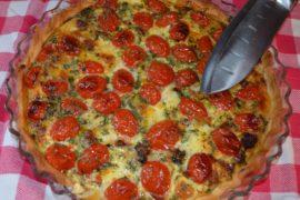 Tomaten pesto taart Italian Residence